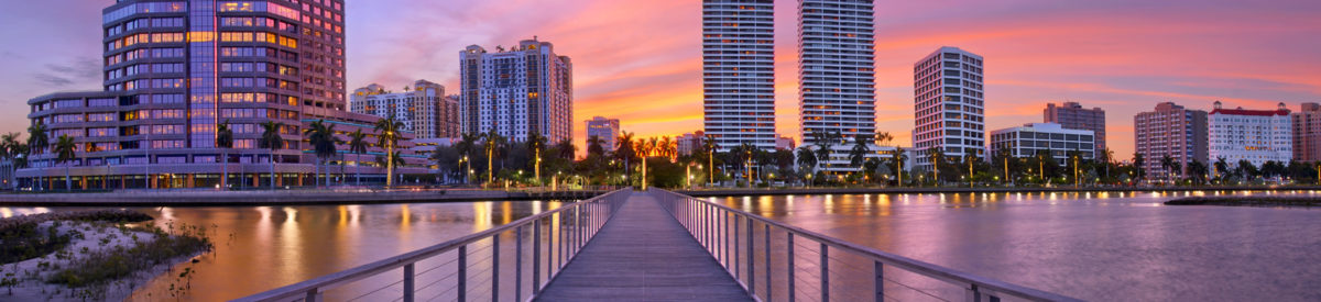 sunset-over-downtown-west-palm-beach-florida-justin-kelefas-hdrcustoms